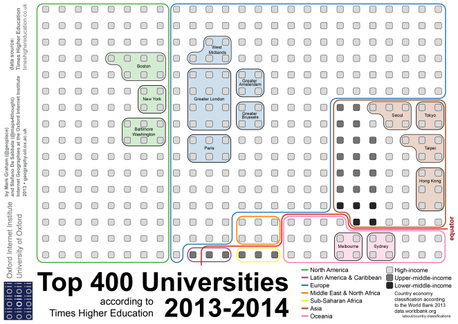 MappingTimesHigherEducationstop-400universities_final1